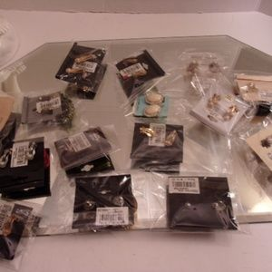 Sasha Lee etc.... Jewelry - 15 Pairs Nwts Clip On Earrings. retail $174 L11-3